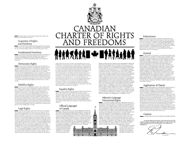 charter of rights and freedoms essay View essay - canadian charter of rights and freedoms essay from history chc2d1 at glendale secondary school canadian charter of rights and freedoms culminating essay.