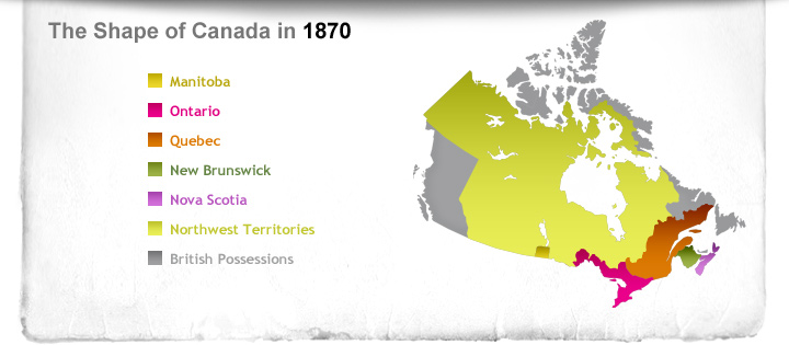 The Shape of Canada in 1870