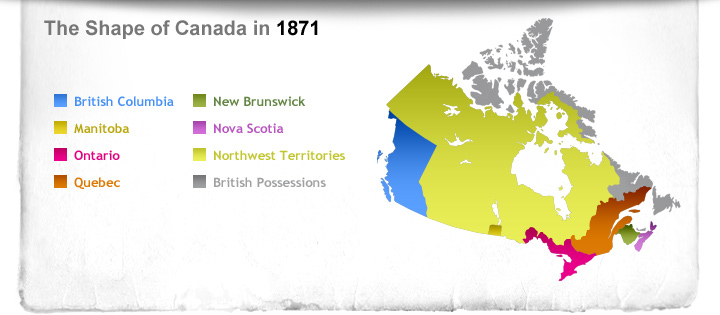 The Shape of Canada in 1871
