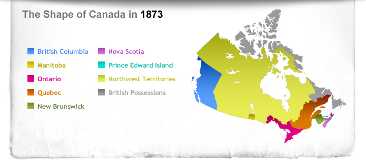 The Shape of Canada in 1873
