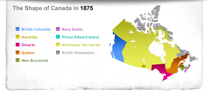 The Shape of Canada in 1875