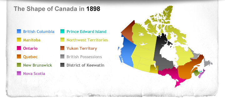 The Shape of Canada in 1898