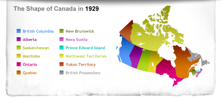 The Shape of Canada in 1929