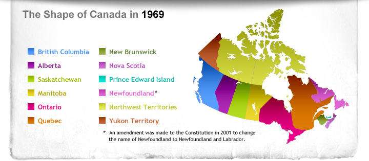 The Shape of Canada in 1969