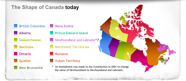 The Shape of Canada Today