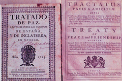 The Treaty of Utrecht in Spanish, Latin and English
