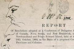 Resolutions of the Quebec City Conference, with doodles drawn by Sir John A. Macdonald