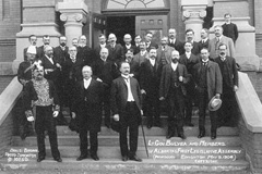 Lieutenant Governor George Bulyea with members of Alberta's first Legislative Assembly
