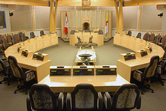 Interior of the Legislative Assembly of Nunavut