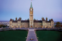 The Centre Block of the Parliament buildings