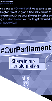 Part of the #OurParliament Twitter campaign profile page