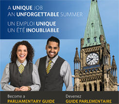 Poster for the Parliamentary Guide summer work program