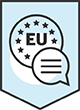 European Union symbol with speech bubble