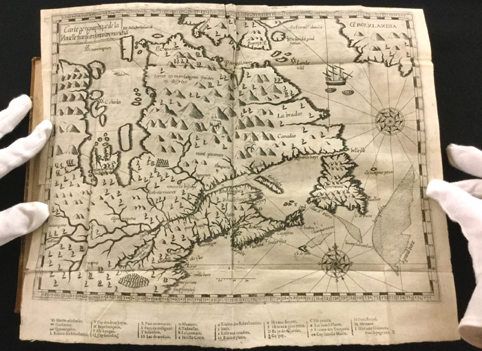 Carte géographique de la Nouvelle-France [Translation: Map of New France]